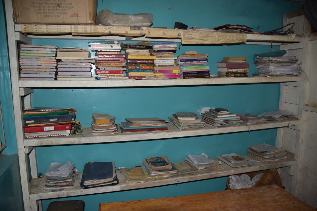 The Maasai Mara library which John Keshe has established for girls.