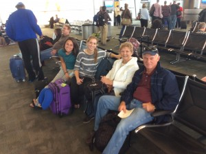 Ready for a great rip to Kenya. God has blessed our weather and we were welcomed by Kirsten and the Weisheim's that came to pray over us at the airport.