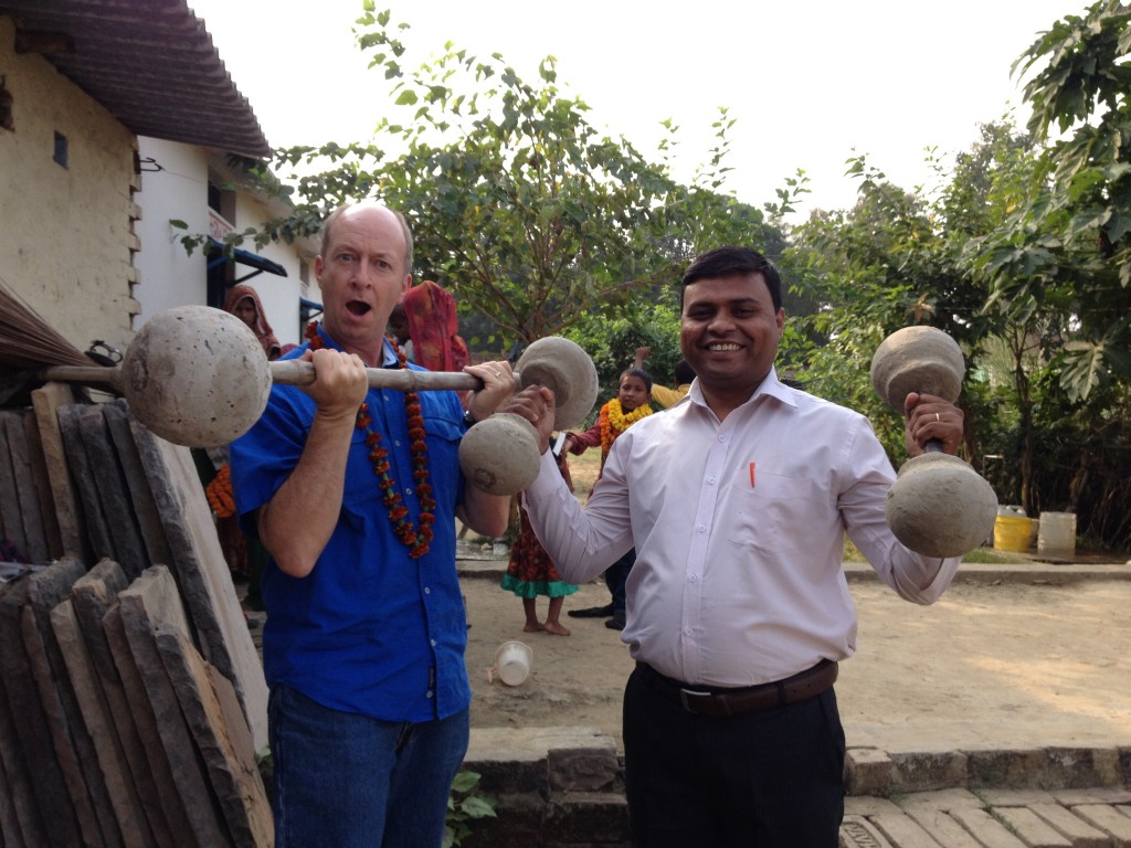 Greetings from india connection pointe dan and mr a lifting homemade weights after sunday church in the village mr a was a key editor of the magahi new testament that was dedicated at this past kristyandbryce Choice Image